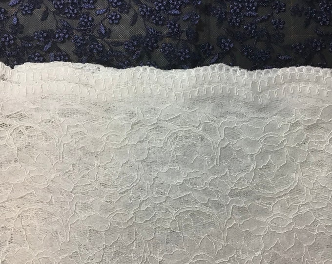 Evintage Veils~ READY TO  SHIP Regina Caeli  Pure White + 5 Colors Embroidered Lace Chapel Veil Mantilla Infinity Veil Latin Mass