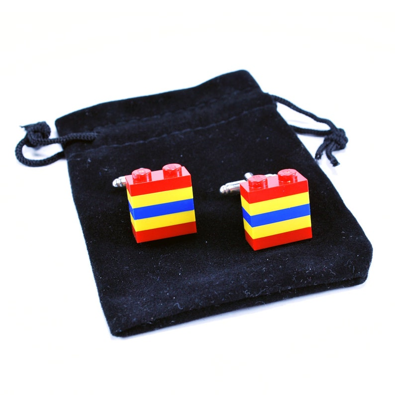 Ideal Gift Romania Cufflinks with Velvet Pouch Cool Cufflinks Mens Gift Cufflinks Wedding Gift Groomsmen Gift
