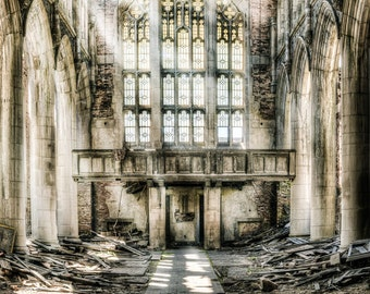 Abandoned Building Indiana Church.  Urbex, Urban Decay Photography