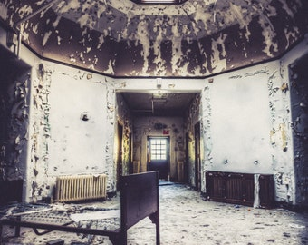 Abandoned Hospital Wing.  Urbex, urban decay photography