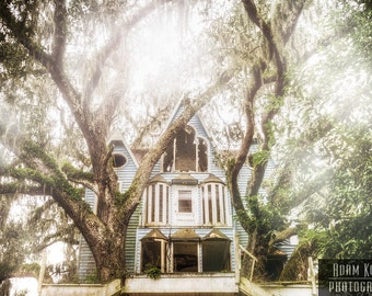 Abandoned Fantasy Tree House, Victorian Style.  Urbex, urban decay, forest, fairy tale, fantasy, woods