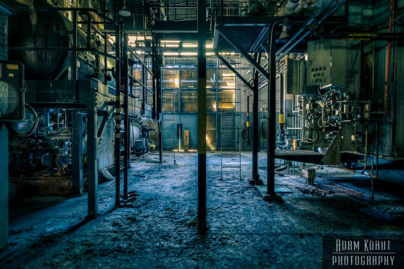 Abandoned Industrial Building.  Urbex urban decay dystopia image 0