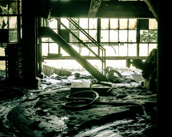 Abandoned Factory Ground Floor - Urbex, Urban Decay Photography