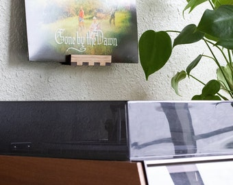 Micro Record Display - Oak - Wall Hanging Shelf