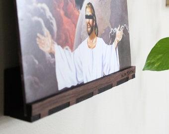 Now Playing Slim Record Display - Walnut - Wall Hanging Shelf
