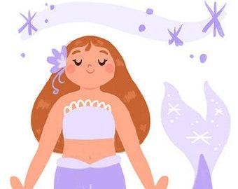 Print: Purple Mermaid