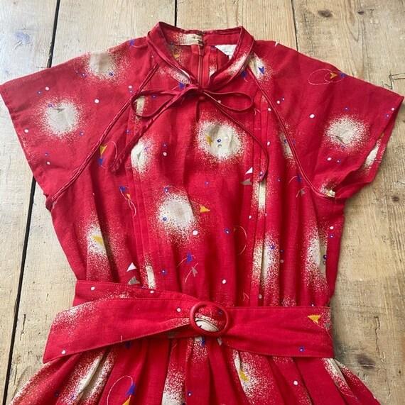 Vintage Tea Dress UK 12 US 10