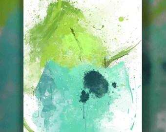 Vine Whip | Digital Watercolor Poster | Kids Nursery Nerd Birthday Gift | Pokemon Painting | Video Game Anime Art | Sneak Peak!