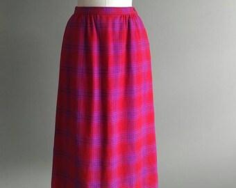 Vintage Skirt Pendleton Skirt 60s Skirt Plaid Wool Skirt A Line Skirt 60s Wiggle Skirt Pendleton Woolen Mills Portland Oregon Vintage Wool