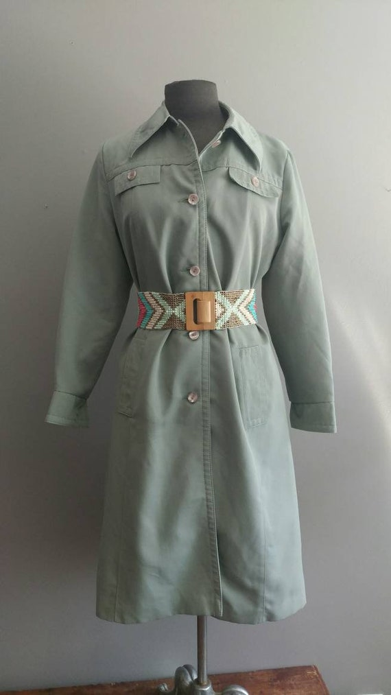 Vintage Raincoat Green Raincoat Forecaster of Bost