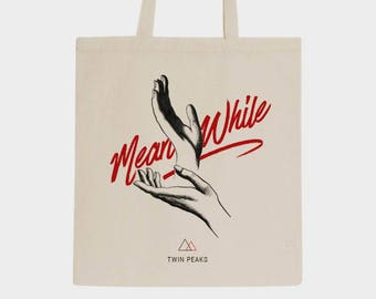 Tote bag  Homenaje a Twin Peaks - Agente Cooper - Ask my Log - David Lynch Laura Palmer Meanwhile Graphic design Totebag Movie Serie Cult
