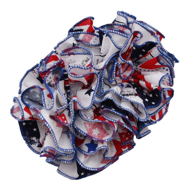 patriotic Banana Clip Comb with Cotton material,Red,White,Blue Color American Flag Fabric Banana Hair Clip 4th of July Bow,Patriotic Bow