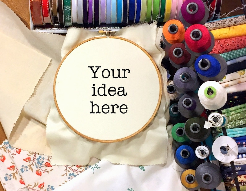 Custom Embroidery Hoop Art Gift, Made To Order Create My Own Personalized  Embroidery, Customized Funny Text Quote or Saying Needlepoint