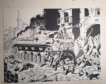 Original illustration of Captain America During World War II