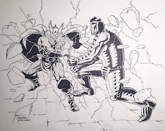 Thor vs The Destroyer illustration