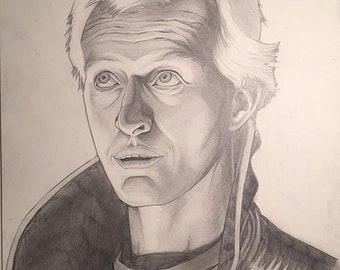 Roy Batty from Bladerunner pencil illustration