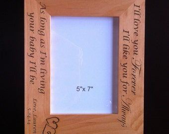 Engraved Mother Father Daughter Frame Ill Love You Etsy