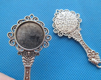 32mmx68mm Large Heavy Good Quality Antique bronze Caved Filigree Beautiful Mirror Pendant Charm Finding,DIY Accessory Jewellry Making