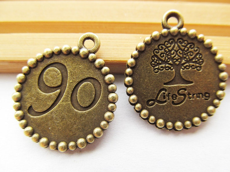 24.5mmx 20.8mm Antique Bronze Life Strong Lucky Tree of Life 90 PendantHanging CharmFinding,DIY Accessory Jewellery Making