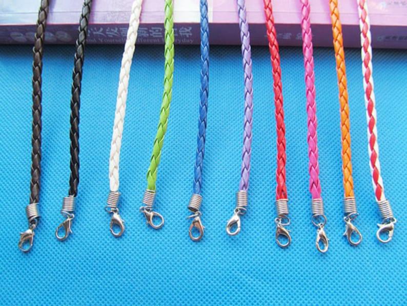 Longitudes de 4 m m 3 de langosta pulsera amistad pulsera cable correa de colores