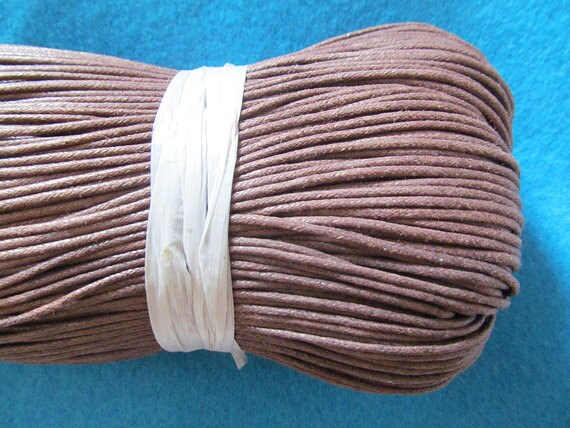 10 METRES GOOD STRONG 2mm MID BROWN COTTON CORD