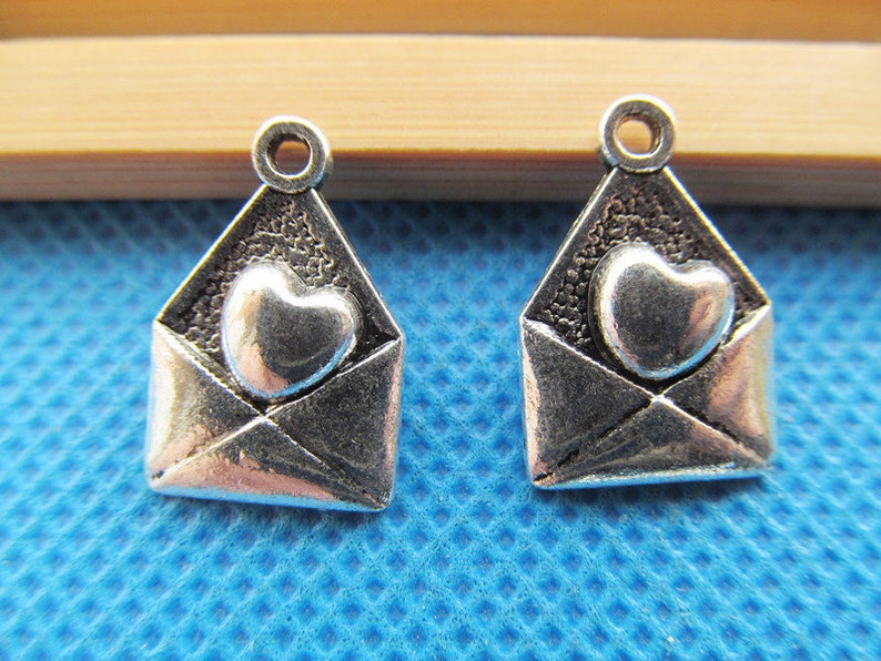 12mmx18mm Antique Silver tone Love Letter Pendant CharmFinding,DIY Accessory Jewellry Making