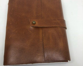 Brown leather journal- waterproof stone paper