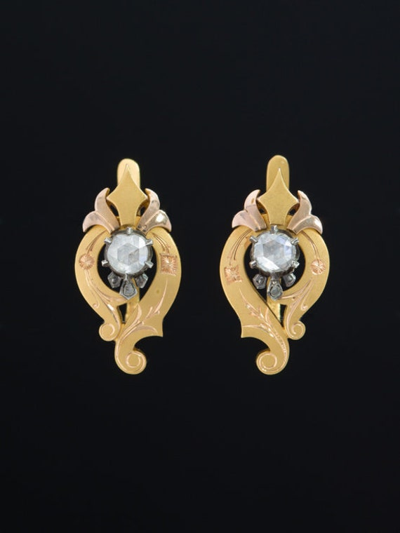 Victorian Sophisticated Diamond Aesthetic Earrings