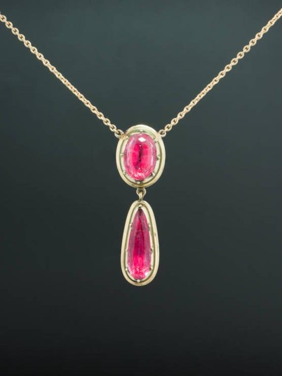 Victorian Rare Natural Pink Topaz Glorious Drop Pe