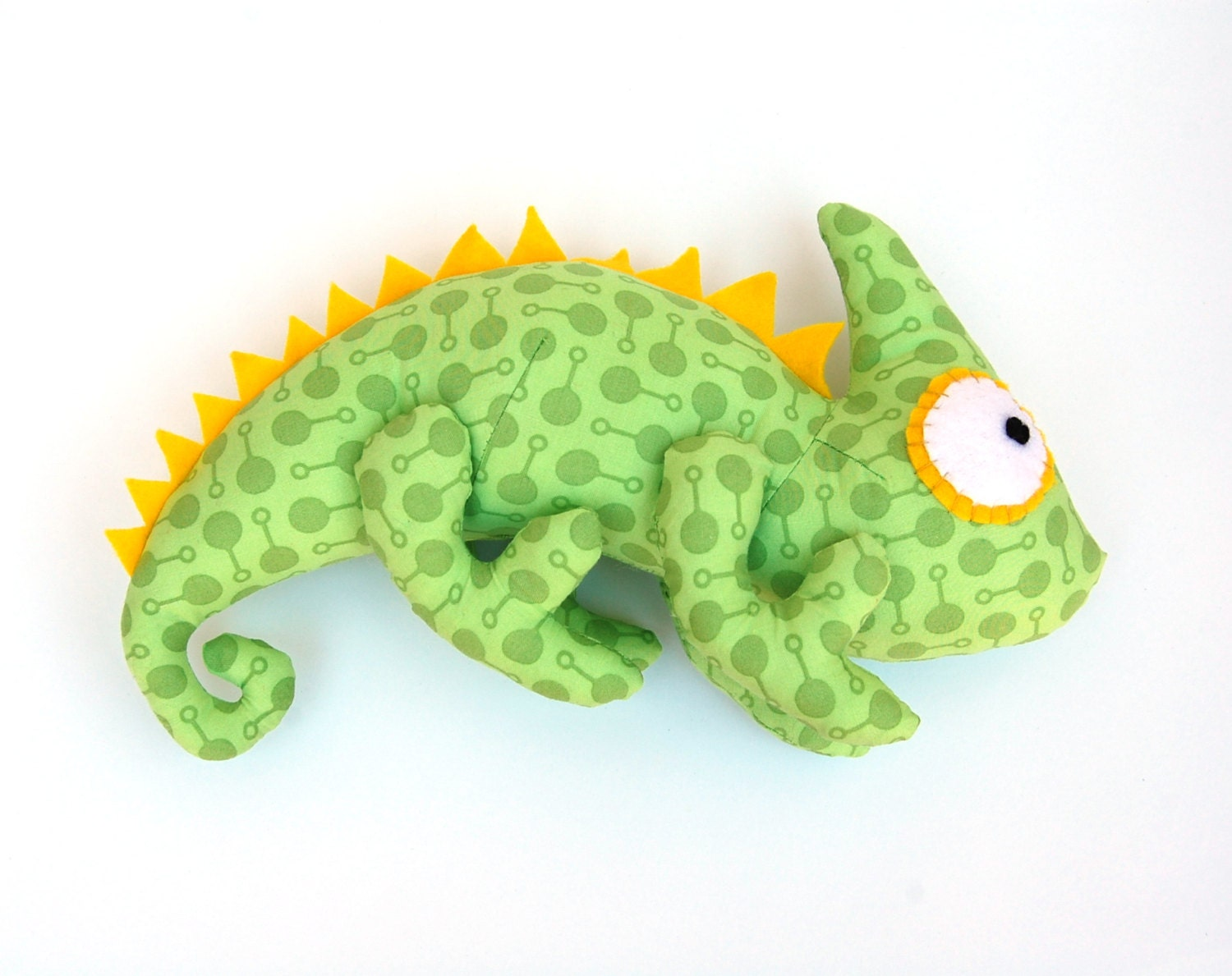 sewing pattern toy iguana toy chameleon toy diy gift for etsy