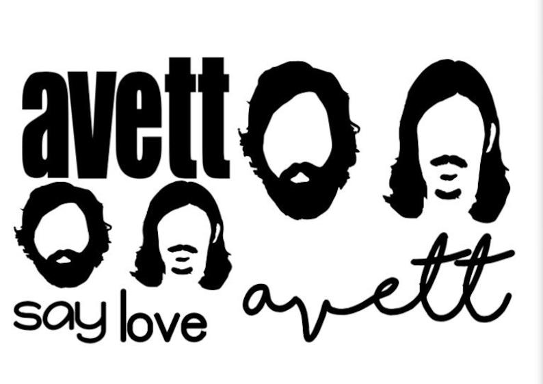 Avett Brothers mixed decal sheet