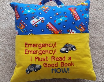 Reading Pillow - Emergency!  Emergency!  I Must Read a Good Book Now!