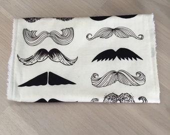 Moustach Burp Cloth