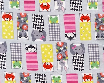 NEW>> COTTON FABRIC Happy Campers Pink - 'Road Trip' collection by Michael Miller Fabrics 100% premium cotton