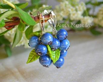 "New earrings ""Blueberry"" is already on sale!"