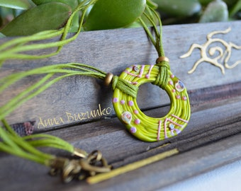 "Murano glass necklace ""Himbu"" Order now!"