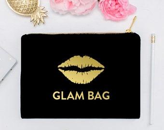 Glam Bag - Makeup Cosmetic Bag, Makeup Brush Holder, Lashes Make Up Bag, Makeup Storage, Cosmetic Bag, Cosmetic Organizer
