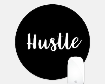 Office Decor Hustle Round Mouse Pad