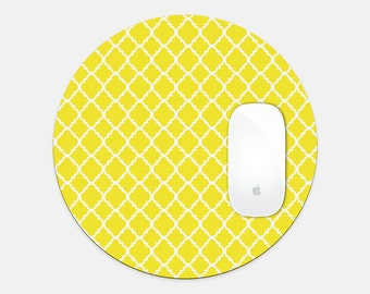 Yellow Round Mouse Pad for Happy Office Space