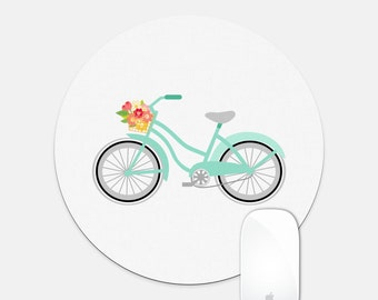 Simple Bicycle Round Mouse Pad