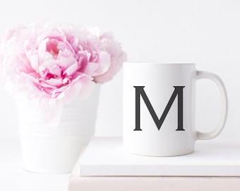 Single Letter Initial Coffee or Tea Mug