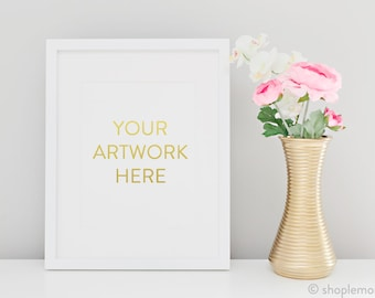 Bright and Clean Styled Stock Photography White Frame