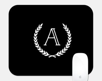 Single Initial Rectangle Mouse Pad