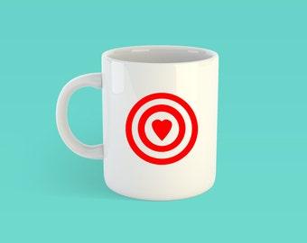 Bullseye valentine etsy target love mug bullseye target valentines day gifts for her coffee lover thecheapjerseys Choice Image