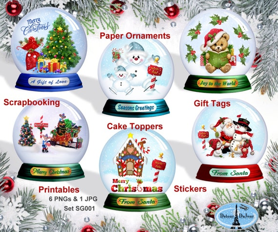 graphic about Printable Christmas Stickers referred to as Xmas Tags Printable Xmas Reward Tags, Snow World Clipart, Xmas Stickers/Labels, Xmas Cupcake Topper
