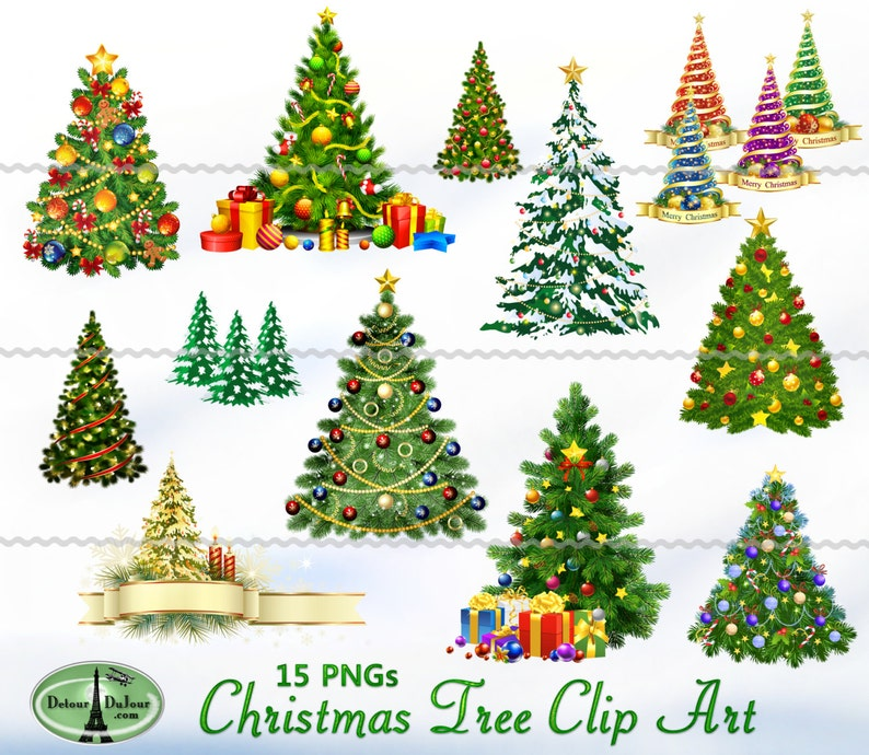 Ausgefallene Weihnachtsbilder.15 Pngs Druckbare Weihnachtsbaum Clipart Digitale Weihnachtsbaum Clipart Weihnachtsbilder Weihnachten
