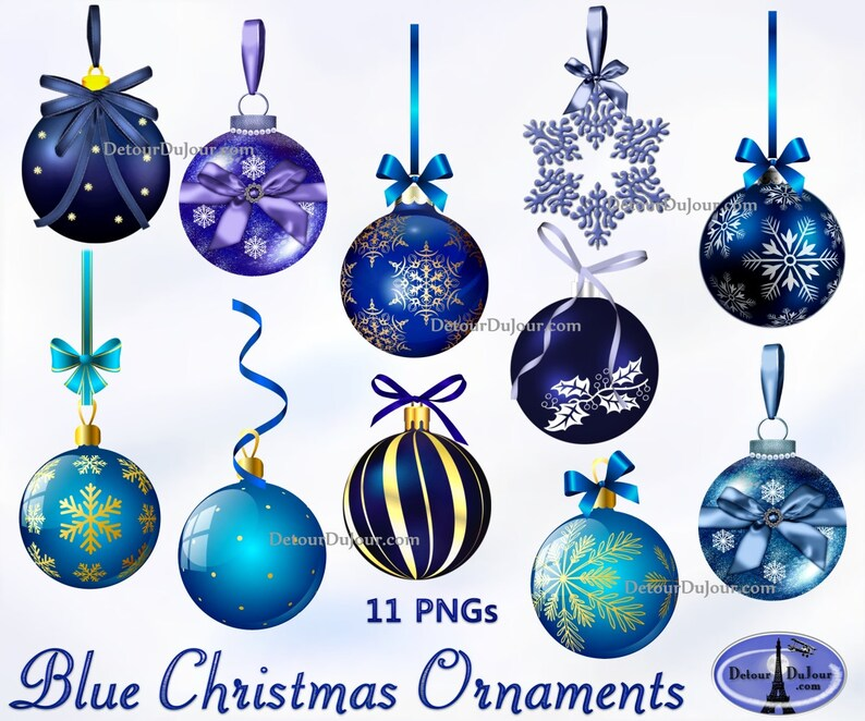 11 Blue Printable Christmas Ornaments Clipart Christmas Tree Ornament Clip Art Christmas Balls