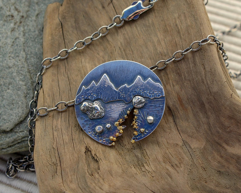 Gold Rush Silver and Gold Pendant