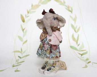 Nostalgische Figurine Elefant Künstlerpuppe Miniatur