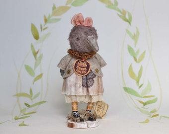 Nostalgische Figurine Vogel Künstlerpuppe Miniatur